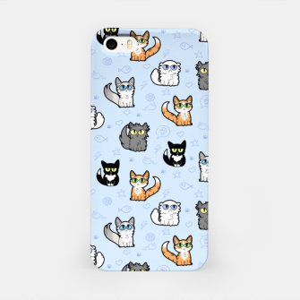 Imagen en miniatura de House Cats - Cartoon Pattern Blue iPhone Case, Live Heroes