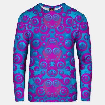 Thumbnail image of The  eyes of freedom in polka dot cartoon pop art Unisex sweater, Live Heroes