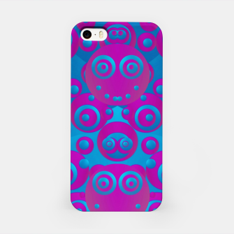 Imagen en miniatura de The  eyes of freedom in polka dot cartoon pop art iPhone Case, Live Heroes