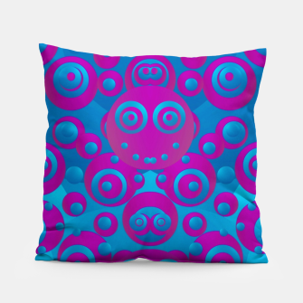 Thumbnail image of The  eyes of freedom in polka dot cartoon pop art Pillow, Live Heroes