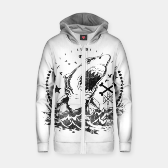 Miniature de image de The King of Sharks Zip up hoodie, Live Heroes