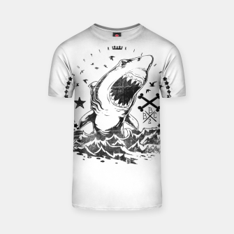 Thumbnail image of The King of Sharks T-shirt, Live Heroes