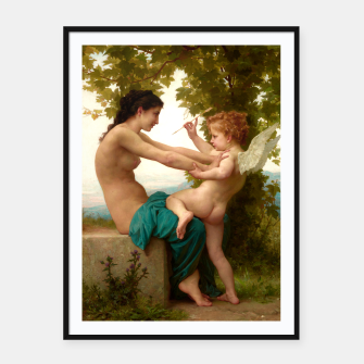 Miniatur A Young Girl Defending Herself Against Eros Framed poster, Live Heroes