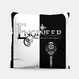 Miniatur Engineer Metallic - Complexity To Reality BWS Pillow, Live Heroes