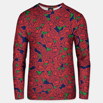 Miniatur Roses are Red Unisex sweater, Live Heroes