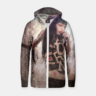 Thumbnail image of P.O.R.N Zip up hoodie, Live Heroes