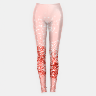 Miniaturka Sparkling Living Coral Lady Glitter #2 #shiny #decor #art Leggings, Live Heroes