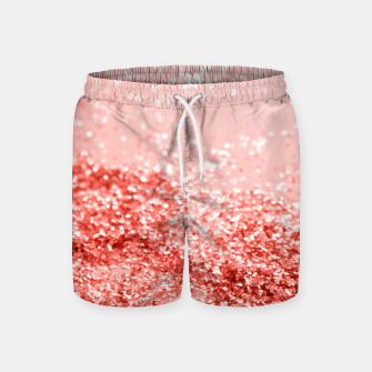 Miniatur Sparkling Living Coral Lady Glitter #2 #shiny #decor #art Badeshorts, Live Heroes