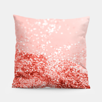 Thumbnail image of Sparkling Living Coral Lady Glitter #2 #shiny #decor #art Kissen, Live Heroes