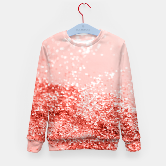 Miniatur Sparkling Living Coral Lady Glitter #2 #shiny #decor #art Kindersweatshirt, Live Heroes