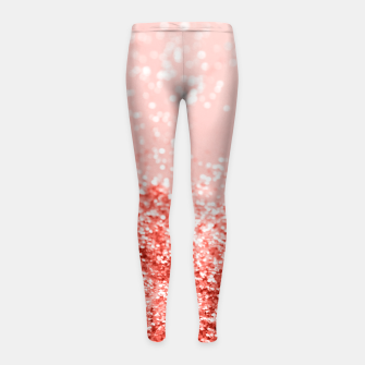 Thumbnail image of Sparkling Living Coral Lady Glitter #2 #shiny #decor #art Kinder-Leggins, Live Heroes