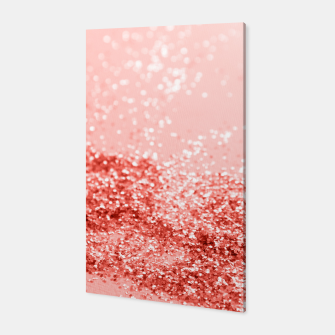 Miniatur Sparkling Living Coral Lady Glitter #2 #shiny #decor #art Canvas, Live Heroes