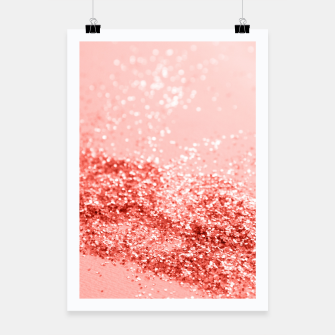 Thumbnail image of Sparkling Living Coral Lady Glitter #2 #shiny #decor #art Plakat, Live Heroes