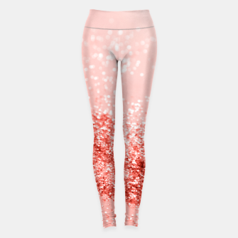Thumbnail image of Sparkling Living Coral Lady Glitter #2 #shiny #decor #art Leggings, Live Heroes