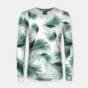 Imagen en miniatura de Tropical Green Palms Pattern #1 #tropical #decor #art  Frauen sweatshirt, Live Heroes