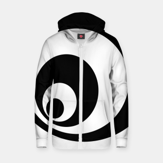 Miniaturka Abstract - black  and white. Zip up hoodie, Live Heroes