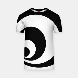 Miniatur Abstract - black  and white. T-shirt, Live Heroes