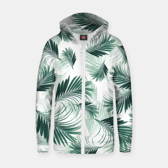 Miniature de image de Tropical Green Palms Pattern #1 #tropical #decor #art  Reißverschluss kapuzenpullover, Live Heroes