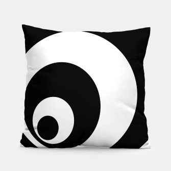 Miniatur Abstract - black  and white. Pillow, Live Heroes