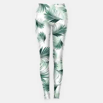 Miniaturka Tropical Green Palms Pattern #1 #tropical #decor #art  Leggings, Live Heroes
