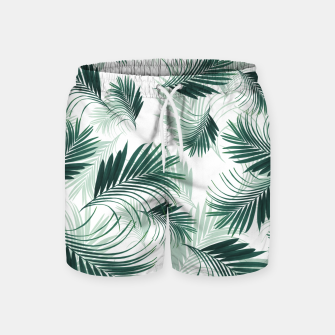 Imagen en miniatura de Tropical Green Palms Pattern #1 #tropical #decor #art  Badeshorts, Live Heroes