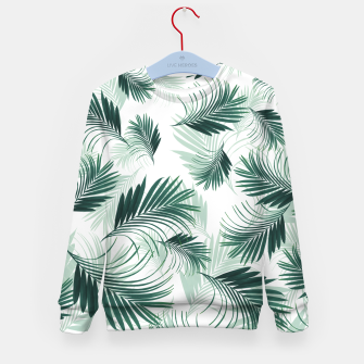 Imagen en miniatura de Tropical Green Palms Pattern #1 #tropical #decor #art  Kindersweatshirt, Live Heroes