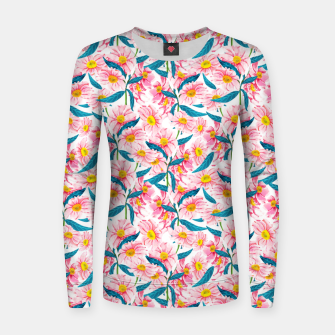 Thumbnail image of Pink Floral V2 Women sweater, Live Heroes