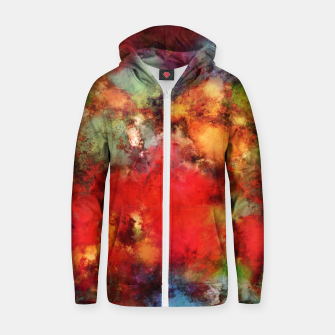 Thumbnail image of A red road Zip up hoodie, Live Heroes