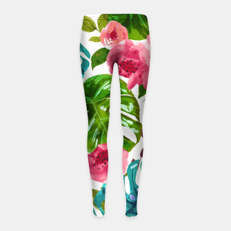 Imagen en miniatura de Tropical Shades Girl's leggings, Live Heroes