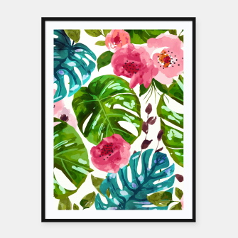 Thumbnail image of Tropical Shades Framed poster, Live Heroes
