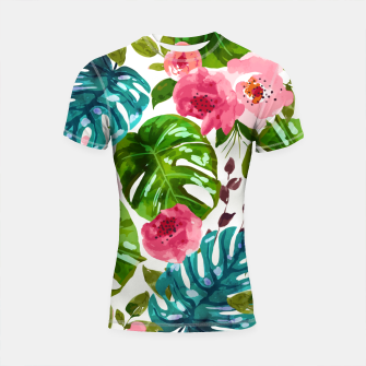 Thumbnail image of Tropical Shades Shortsleeve rashguard, Live Heroes