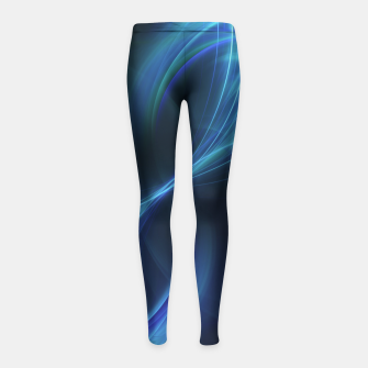 Imagen en miniatura de Blue Pulsar Abstract Fractal Art Design Girl's leggings, Live Heroes