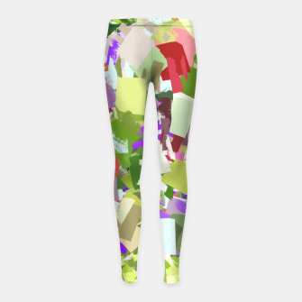 Miniature de image de Green Freshness Girl's leggings, Live Heroes