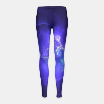 Imagen en miniatura de Deep Space Abstract Fractal Art Design Girl's leggings, Live Heroes