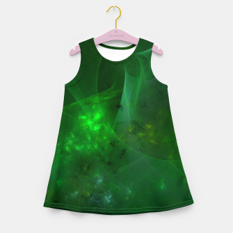 Imagen en miniatura de Emerald Sky Abstract Fractal Art Design Girl's summer dress, Live Heroes