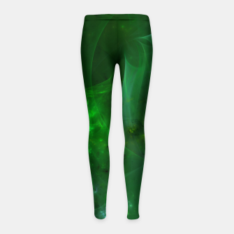 Imagen en miniatura de Emerald Sky Abstract Fractal Art Design Girl's leggings, Live Heroes