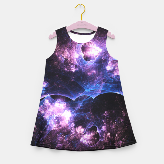 Imagen en miniatura de Grunged Space Abstract Fractal Art Design Girl's summer dress, Live Heroes