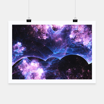 Miniatur Grunged Space Abstract Fractal Art Design Poster, Live Heroes