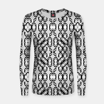 Thumbnail image of Black and White Modern Geometric Pattern Women sweater, Live Heroes