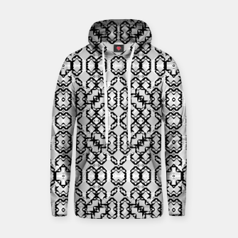 Thumbnail image of Black and White Modern Geometric Pattern Hoodie, Live Heroes