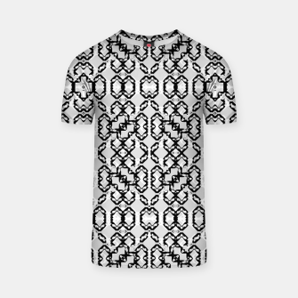 Miniatur Black and White Modern Geometric Pattern T-shirt, Live Heroes