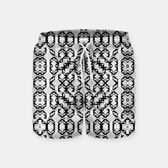 Imagen en miniatura de Black and White Modern Geometric Pattern Swim Shorts, Live Heroes