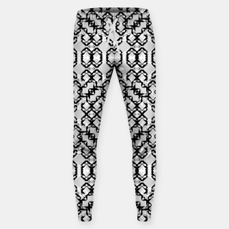 Thumbnail image of Black and White Modern Geometric Pattern Sweatpants, Live Heroes