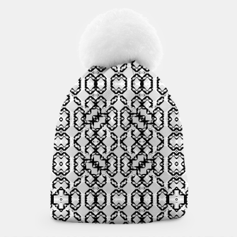 Thumbnail image of Black and White Modern Geometric Pattern Beanie, Live Heroes