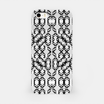 Thumbnail image of Black and White Modern Geometric Pattern iPhone Case, Live Heroes
