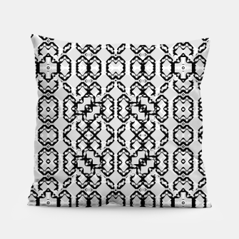 Thumbnail image of Black and White Modern Geometric Pattern Pillow, Live Heroes