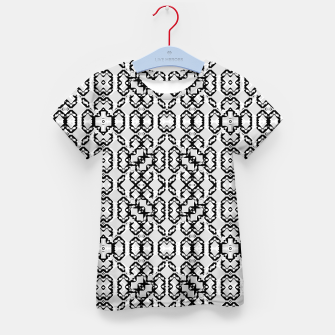 Thumbnail image of Black and White Modern Geometric Pattern Kid's t-shirt, Live Heroes