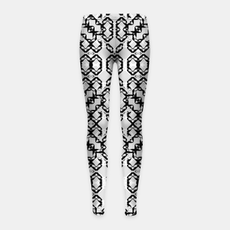 Imagen en miniatura de Black and White Modern Geometric Pattern Girl's leggings, Live Heroes