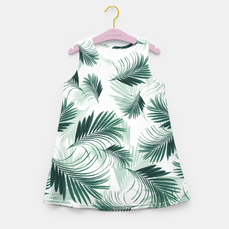 Imagen en miniatura de Tropical Green Palms Pattern #1 #tropical #decor #art  Mädchen-Sommerkleid, Live Heroes