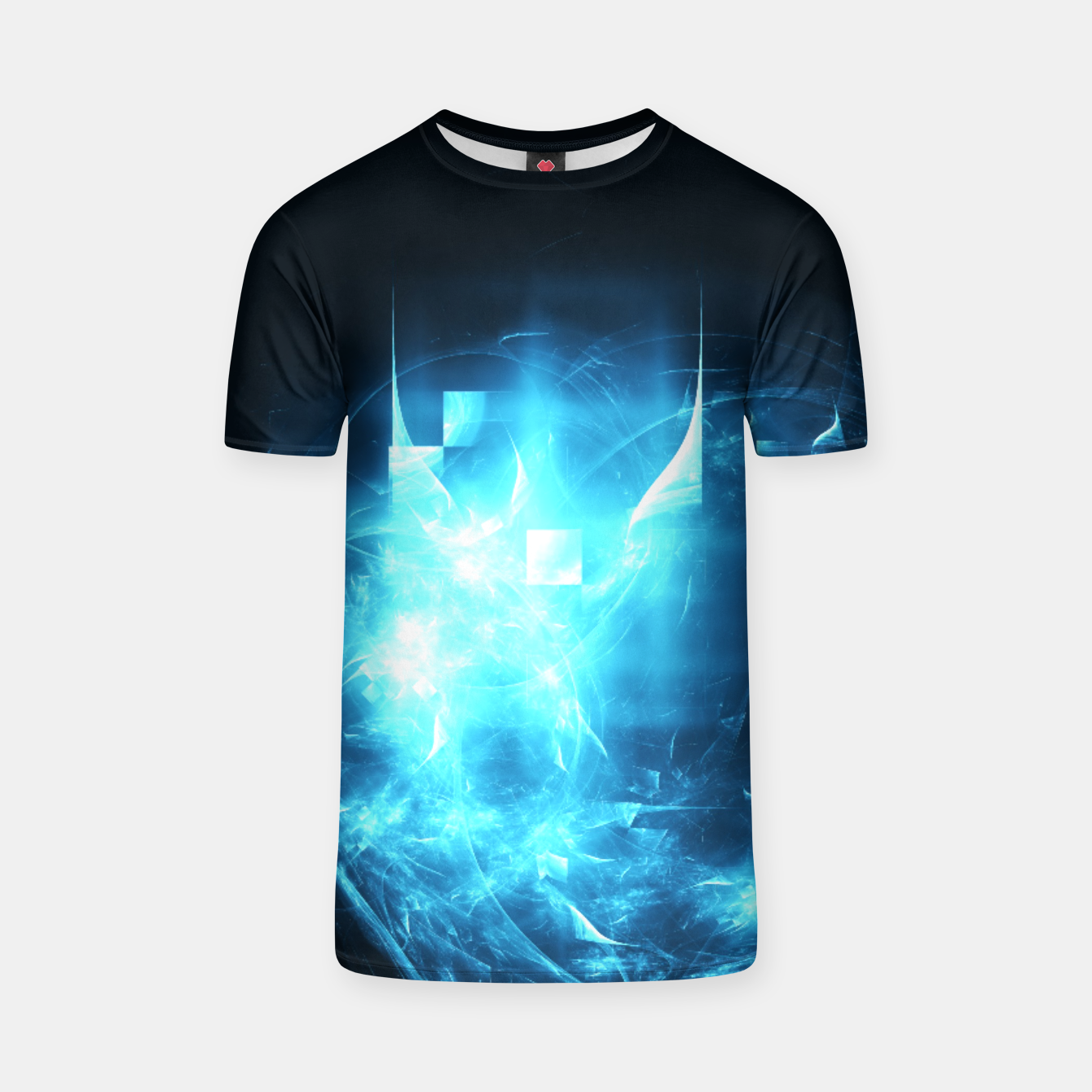 Image of As cold as ice Abstract Fractal Art Design T-shirt - Live Heroes
